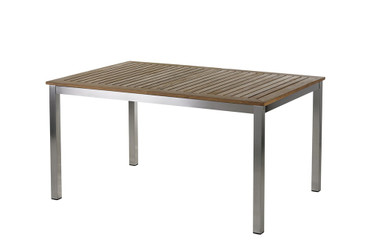 Roma Tisch 150 – 200 cm Edelstahl/Teak  – Bild 1