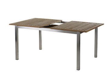 Roma Tisch 150 – 200 cm Edelstahl/Teak  – Bild 2
