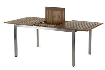 Roma Tisch 150 – 200 cm Edelstahl/Teak  – Bild 4