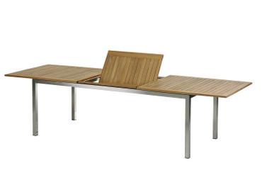 Roma Tisch 220 – 300 cm Edelstahl/Teak – Bild 3