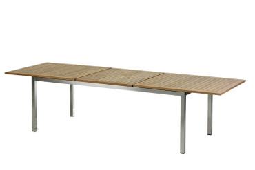 Roma Tisch 220 – 300 cm Edelstahl/Teak – Bild 5