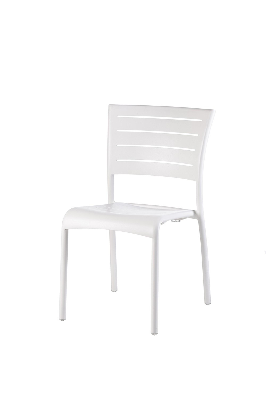 kingston stapelstuhl aluminium wei ohne armlehnen garten gartenst hle. Black Bedroom Furniture Sets. Home Design Ideas