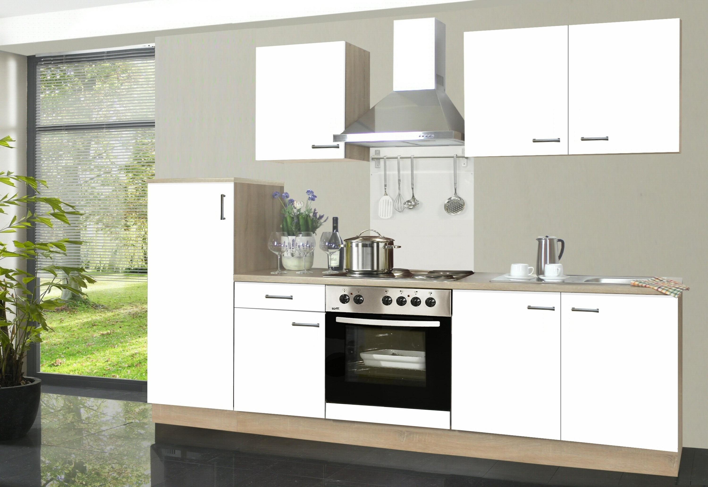 Küche mit elektrogeräten  Küchenzeile Biggi inkl. Elektrogeräte und Kochplatten, 270 cm Möbel ...