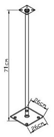 2x Surroundstands Sulivo Mini, Schwarzglas 71 cm – Bild 3