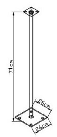 2x Surroundstands Sulivo Maxi Klarglas 107 cm – Bild 3