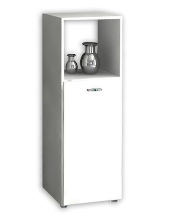 Badschrank Bones-3 - Regal, (Weiß / Weiß) – Bild 3