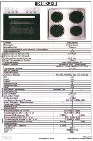 Montierte Küchenzeile Litra Lava - inkl. Elektrogeräte und Kochplatten, 270 cm – Bild 4