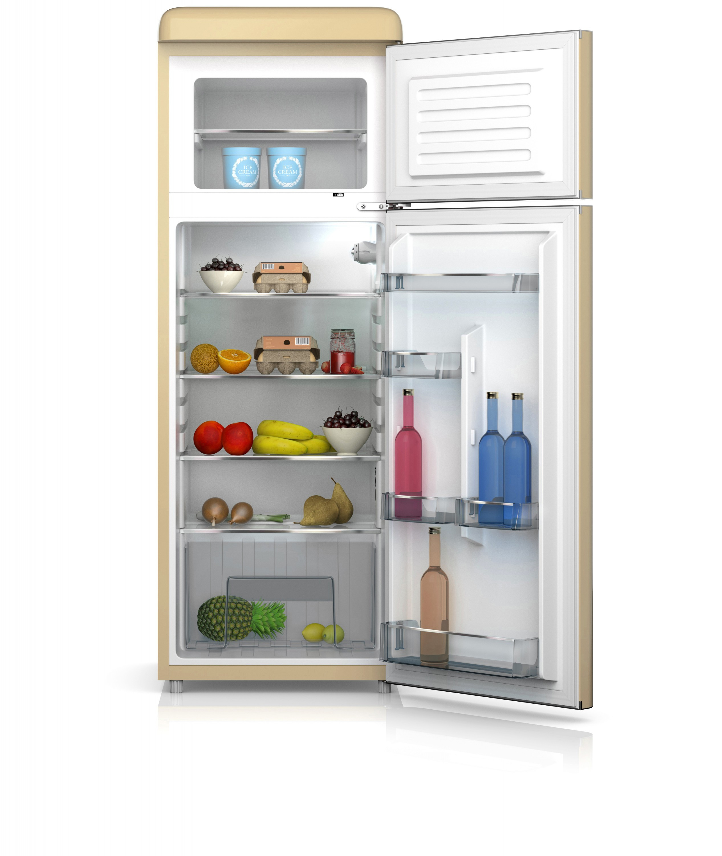 Doppeltür Kühl Gefrierkombination 150 Cm, 210C Creme