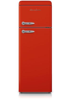 Doppeltür Kühl-Gefrierkombination 150 cm, SL210FR Rot – Bild 1