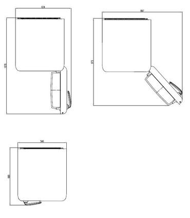 Doppeltür Kühl-Gefrierkombination 150 cm, SL210R Weinrot – Bild 4