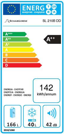 Doppeltür Kühl-Gefrierkombination 150cm, SL210SP  Glänzend Pink – Bild 4