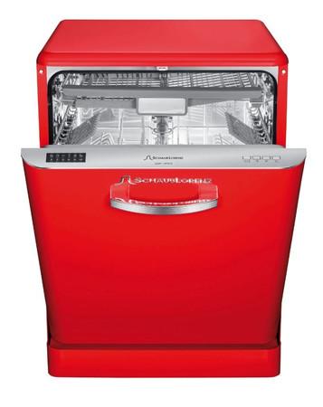 Geschirrspüler Retro Design freistehend A++, 14FRK, Rot glänzend – Bild 1