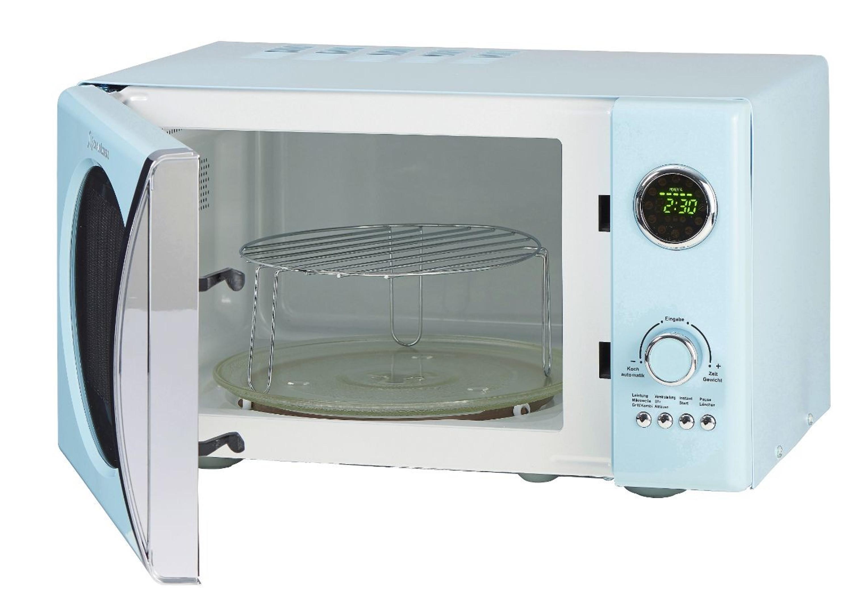 Retro-Mikrowelle MW823G SB Hellblau Küchengeräte Mikrowellen
