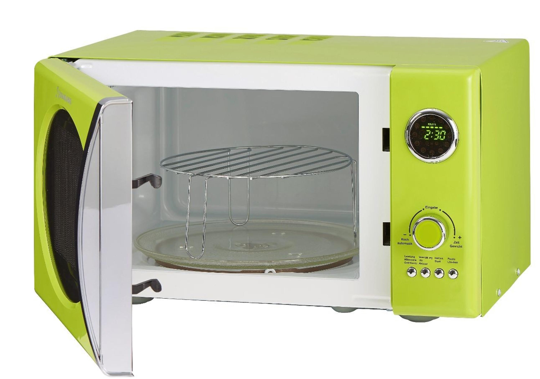 Retro-Mikrowelle MW823G LG Limongrün Küchengeräte Mikrowellen