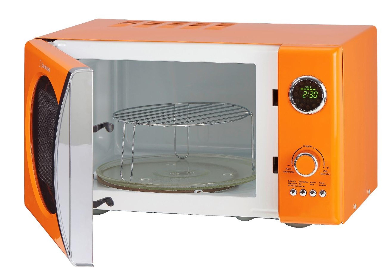 Retro-Mikrowelle MW823G O Orange Küchengeräte Mikrowellen
