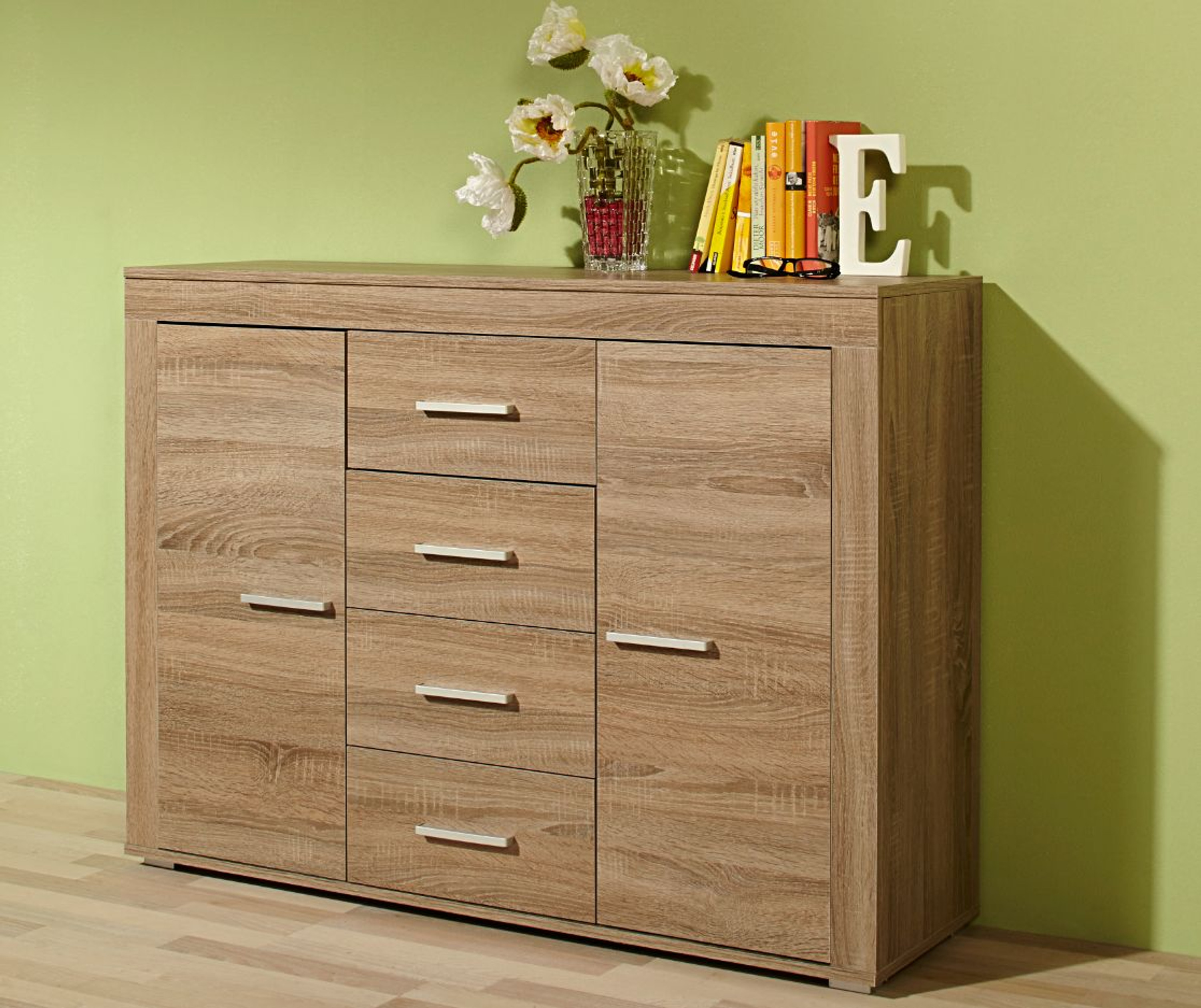 sideboard palma eiche sonoma s gerauh m bel wohnzimmer kommode sideboard. Black Bedroom Furniture Sets. Home Design Ideas