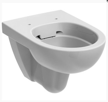 Tiefspül-Wand-WC Set, Rimfree®, mit WC-Sitz, Weiß – Bild 3