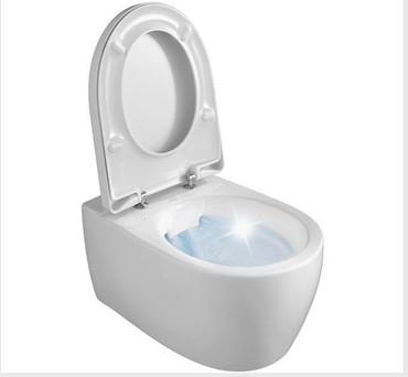 Tiefspül-Wand-WC Set iCon Rimfree®, mit WC-Sitz Absenkautomatik, Weiß – Bild 1