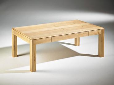Couchtisch Bodo, Asteiche massiv / Schublade 52 × 54 cm – Bild 3