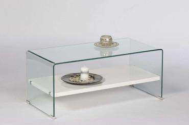 Couchtisch Casio, mit geformtes Glas