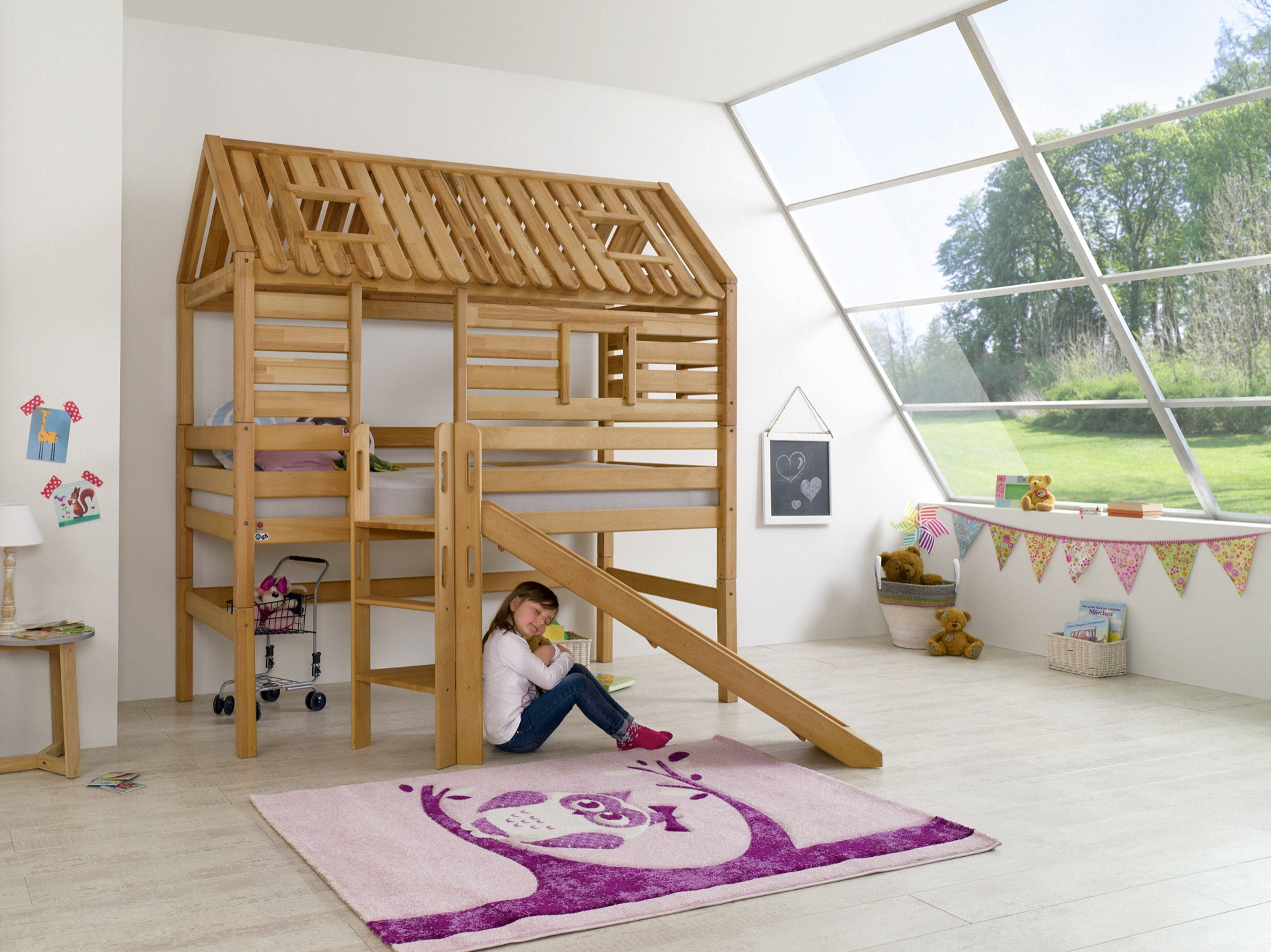 spielbett tom s h tte buche massiv natur ge lt 90x200 liegefl che m bel baby kinderzimmer. Black Bedroom Furniture Sets. Home Design Ideas
