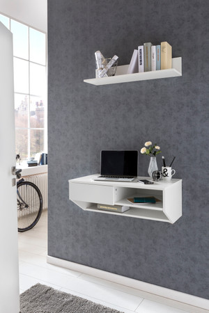 Wand-Konsole/-Office mit Regal, in drei Farben – Bild 1
