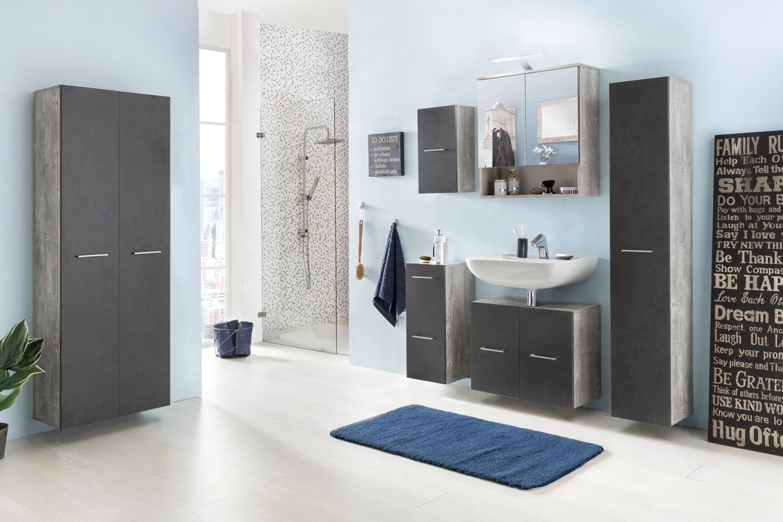 Badezimmer Set Bad Pure, In Den Farben Beton Oder Graphit, Mit Beleuchtung