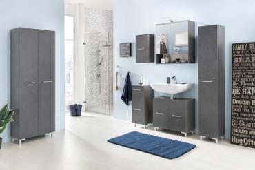 Badezimmer Set Bad Pure, in den Farben Beton oder Graphit, mit Beleuchtung – Bild 4
