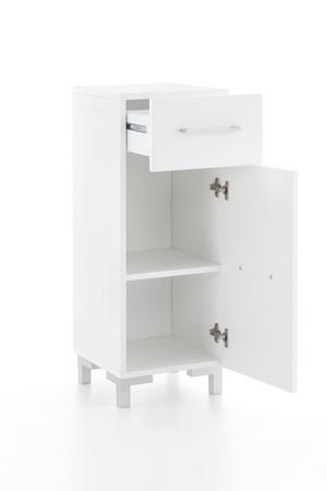 Badezimmer Set Bad Pure II, in den Farben Beton Hochglanz oder Weiß Hochglanz, mit Beleuchtung – Bild 7