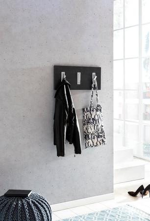 Garderobenpaneel quer / Graphit – Bild 4
