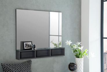 Spiegel mit 3 Fächer unten
