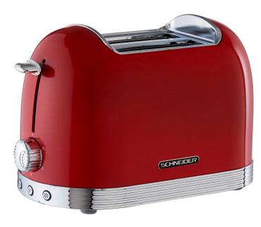 Retro-Toaster Feuerrot glänzend – Bild 3