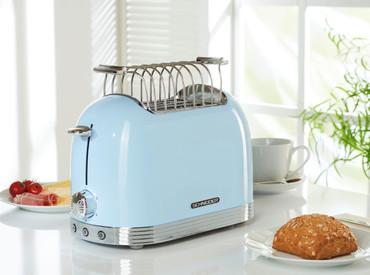 Retro-Toaster Hellblau glänzend – Bild 3