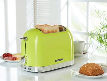 Retro-Toaster Apfelgrün glänzend – Bild 2