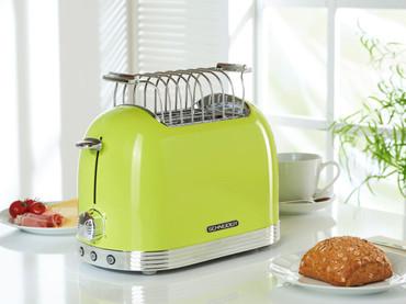 Retro-Toaster Apfelgrün glänzend – Bild 3
