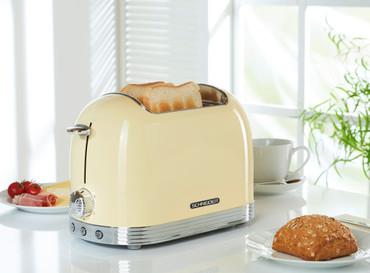 Retro-Toaster Creme glänzend – Bild 2