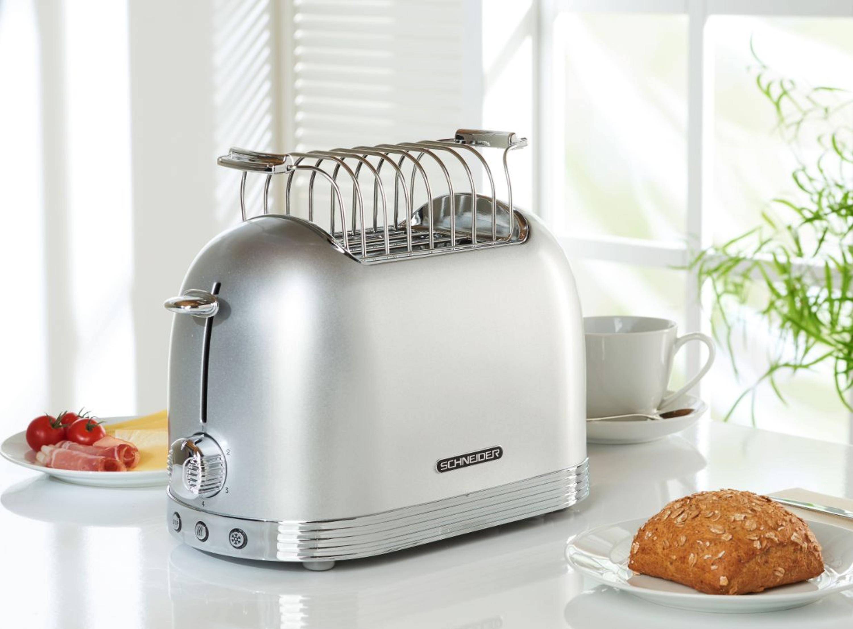 Retro Toaster Silber Glanzend Kuchengerate Toaster