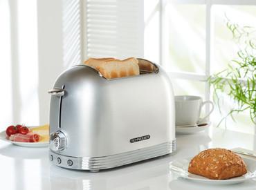 Retro-Toaster Silber glänzend – Bild 3