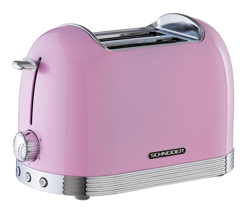 Retro Toaster Pink Glanzend Kuchengerate Toaster