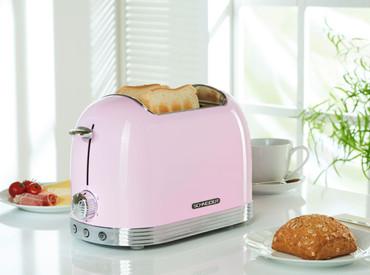 Retro-Toaster Pink glänzend – Bild 3