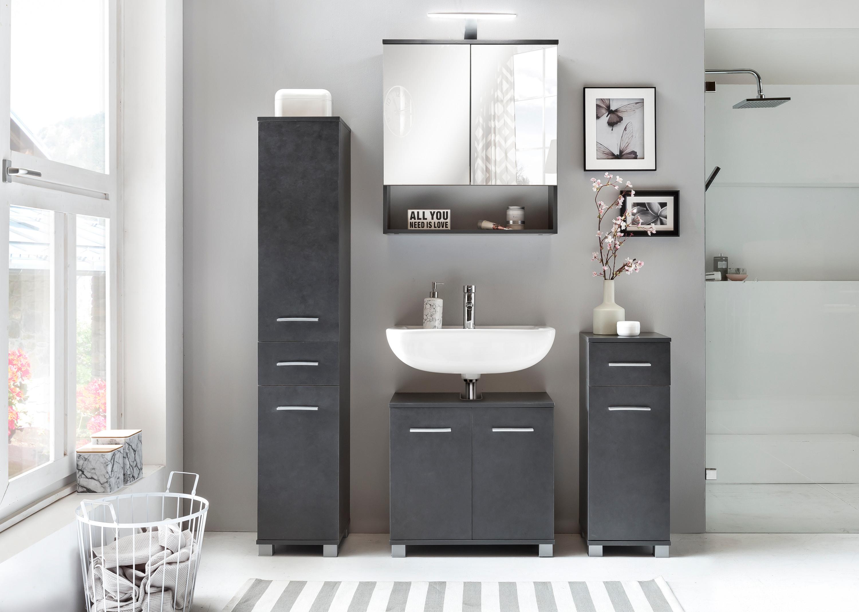 Badezimmer set kao 1 graphit badezimmer badezimmersets - Badezimmer set ...
