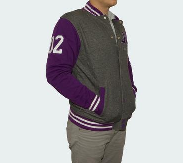Sweatshirt Herren Jacke DGK Scholar Snap Up (Grey/Purple) – Bild 2