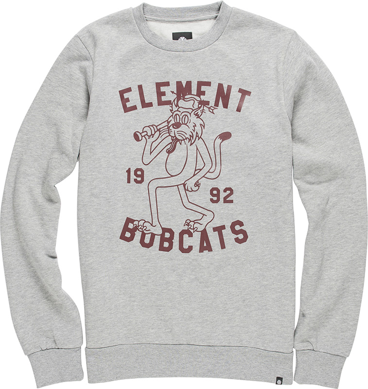 Element Herren Pullover BOBCATS CR (Grey Heather) 001