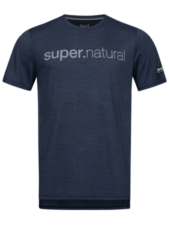 super.natural Herren T-Shirt Graphic Tee (Iris Melange/Light Grey Identity) – Bild 2