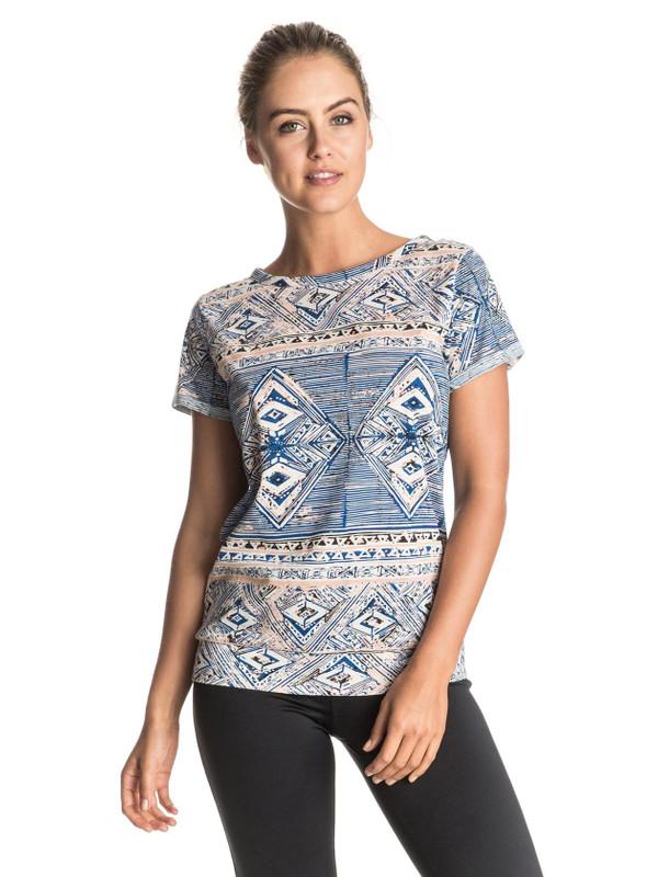 Roxy Damen T-Shirt DIDASANA TEE (Yoga Yogii Peach) 001