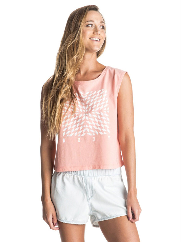 Roxy Damen T-Shirt A SUNDAY (Peach Amber) 001