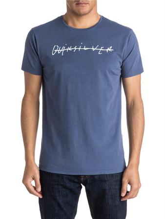 Quiksilver Herren T-Shirt GARMDYETELOQUI (Nightshadow Blue)