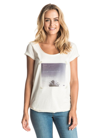 Roxy Damen T-Shirt SURFWISEFREEMIN (Marshmellow)