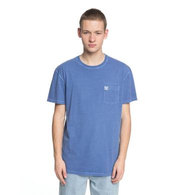 DC Herren T-Shirt Dyed Pocket Cre (Campunula) – Bild 1