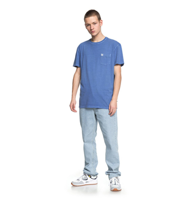 DC Herren T-Shirt Dyed Pocket Cre (Campunula) – Bild 2